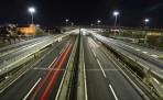 M8 en väldigt vacker motorväg som klyver Glasgow... inget man vill missa på julafton...