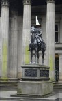 The equestrian Wellington Statue is a statue of Arthur Wellesley, 1st Duke of Wellington, located on Royal Exchange Square in Glasgow, Scotland...