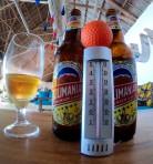 klockan 11-ölen... 32 grader varmt...