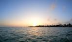 solen går upp bakom Nungwi...