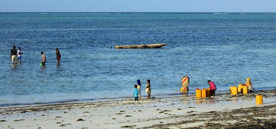 stranden och havet är hjärtat och pulsen i Nungwi...