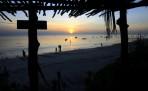 solnedgång i byn Kizamkazi...