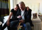 Cazandra med födelsedagsbarnet...