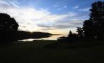 soluppgång över Bråviken, sett från vårat rum...