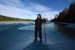 """isen är minst 40 cm tjock så det är ingen """"ko på isen"""" idag..."""