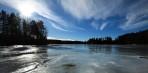 motljus över sjön Östen....