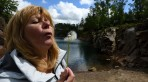 på våren blåser man maskrosor så även vid Dalby stenbrott...