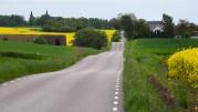 till vänster i bild kan man skymta Marsvinsholms slott...