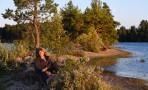 Carina njuter i solnedgången...
