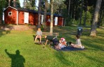 grillparty på stranden med Johan, Johanna och lilla Vilda...
