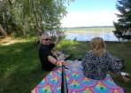 andra pausen vid någon sjö längs vägen...