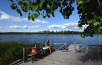 bäst att ta sig en bärs innan första badet i Svärdsjön...