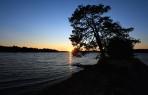 solnedgång ute på sandrevet...
