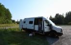 Johan och Johannas egenbyggda husbil...