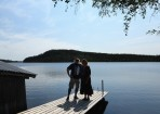 uppställda vid föbod sjön...