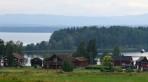 hus nere vid Orsa sjön...