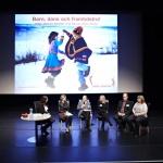 Samtal med kulturministern, Robert Weil från Proventus, Grete Solvang-Stoltz från LKAB, Christer Wiklund från Musikhöskolan i Piteå och Carolina Andersson