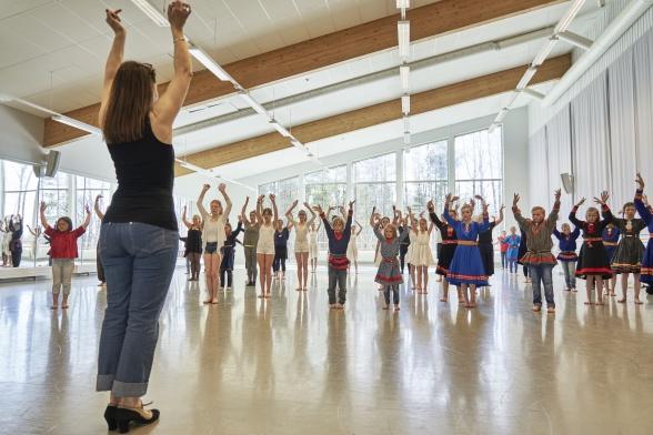Danslärarutbildningens lokaler vid Musikhögskolan i Piteå, Luleå tekniska universitet. Foto: Hans-Olof Utsi