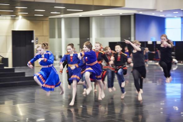 Dans i Kirunas stadshus Kristallen. Foto: Hans-Olof Utsi