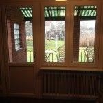 Fastglasning med båge och fönsterdörr