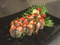 4) Flaming Salmon Roll