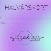 Yoga halvårskort