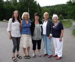 Svenska deltagare tillsammans  med KFHs svenskfödda ordförande Kristina Berg Torskesnæs