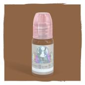 Amber - Detta är ett varmt ljusbrunt / rött pigment. Den kan användas för ögonbryn eller lägga till värme till andra färger.