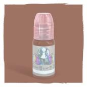 """Latte - Mellanfärgad brunrosa pigment. Lite mörkare än Cheeky. Blir en """"nude""""-färgad ton på ljusa läppar."""