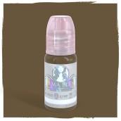 Chocolate Kiss - Detta är ett kallt kritbrunt pigment. Den kan användas för ögonbryn till klienter som önskar en askig brun kall ton.