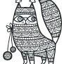 ur Svenska Djur (Du inte visste fanns)  Printworks 2016 / From the coloring book Swedish animals