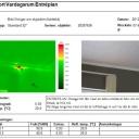 Värmekameran visar termogrambild över dolda byggfel, fukt och mögelriskområden till innemiljön