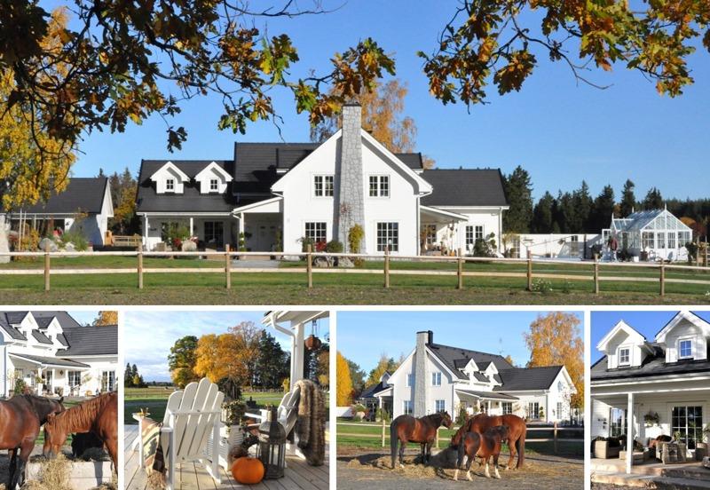 En helt nybyggd hästgård i New England stil