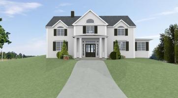 Hus - Förslag 1 - Fasad mot väst - 3D