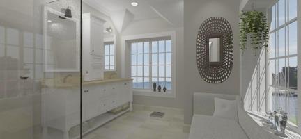 Hus - Förslag 4 - 3D - interiör - 1 - master bath
