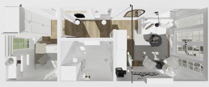 Planlösning - 3D bild