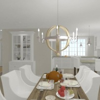Hus - Förslag 4 - 3D - interiör - 3 - kök o matsal
