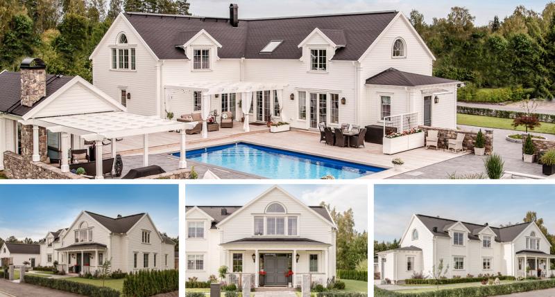 New England inspirerad hus ritad för kund