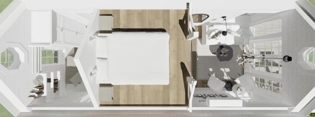 Sovloft  - 3D bild