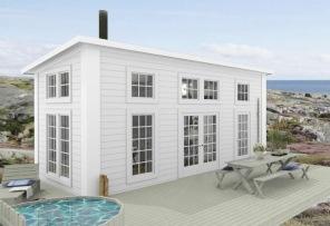 25 kvm - Attefallshus - New England - Modernt 1