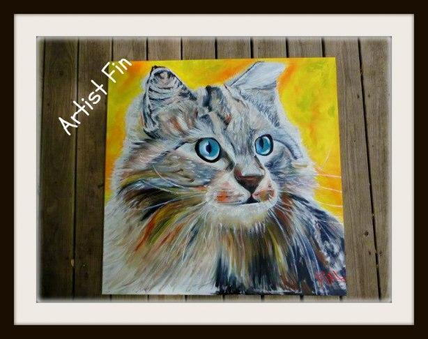 Kattmålning av Artist Fin
