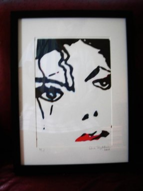 Michael Jackson - inramad med glas & ram