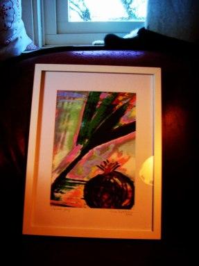 Yin & Yang - inramad med glas & vit ram