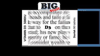 BIGSTUFF Vitamin D3 Tabletter 5000 IE 90 tabs - Vitamin D3 Tabletter 5000 IE 90 tabs