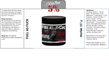 5% Nutrition FULL AS FUCK 387 g - FULL AS FUCK 387 g Pomegranate
