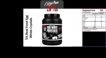 5% Egg White Crystals 0,81kg - 5% Egg White Crystals 0,81kg