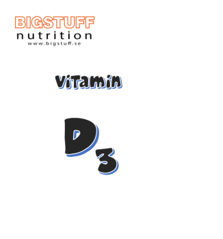 BIGSTUFF Vitamin D3 Tabletter 5000 IE 90 tabs - Vitamin D3 Tabletter 5000 IE 90 tabs
