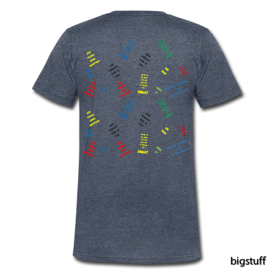 Supermjuk T-shirt med V-ringn baksida