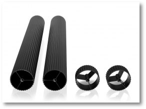 Black Anodised Corner-Pillars Custom Lengths (pair) - Black Anodised Corner-Pillars, Length 30-65,5mm (pair)