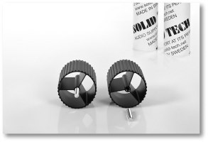 Black Anodised Radius Corner-Pillars (pair) - Black Anodised Corner-Pillars, Plus M8 Pin Bolts, Length 65,5mm